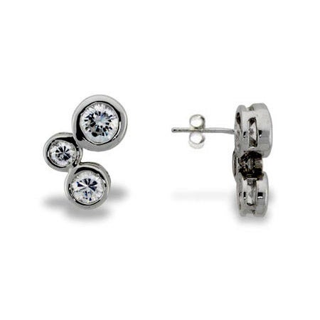 Designer Style Bubbles Stud Earrings