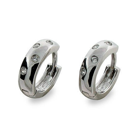 Designer Style Cubic Zirconia Huggie Earrings | Eve's Addiction®