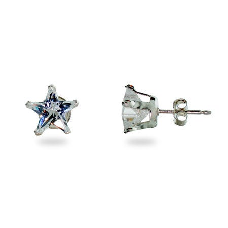Diamond Cubic Zirconia Star Stud Earrings | Eve's Addiction®