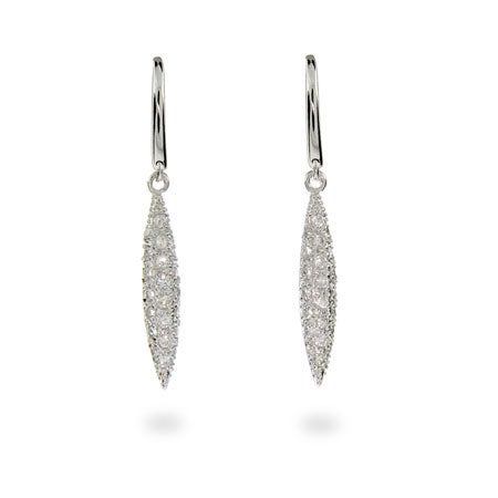 Designer Style CZ Feathers Earrings | Eve's Addiction®