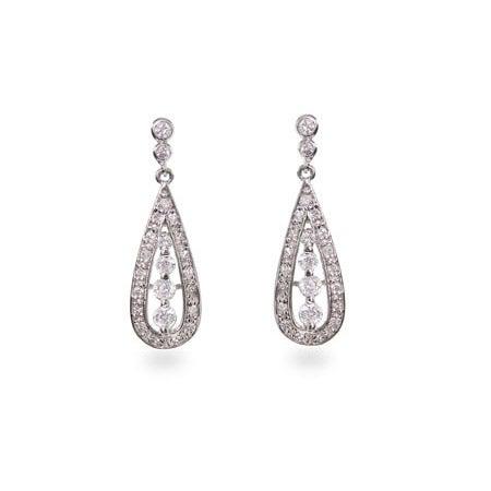Designer Style CZ Teardrop Earrings | Eve's Addiction®