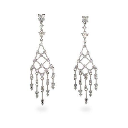 Diamond CZ Drop Chandelier Earrings | Eve's Addiction®