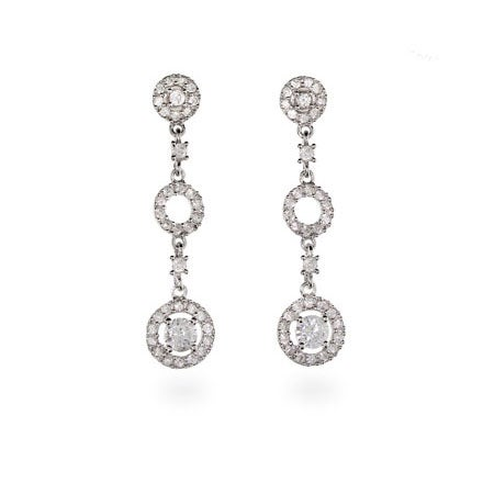 Antique Style Silver Circle Drop Earrings | Eve's Addiction®