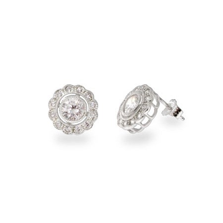 Designer Style Single Circlet CZ Stud Earrings | Eve's Addiction®