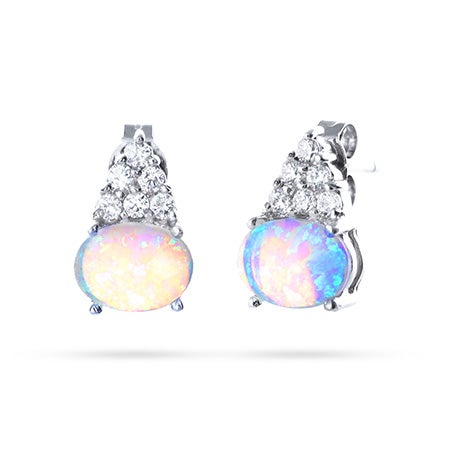 Opal and CZ Tiered Studs | Eve's Addiction®