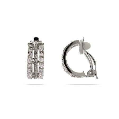Triple Row CZ Clip-On Earrings | Eve's Addiction®