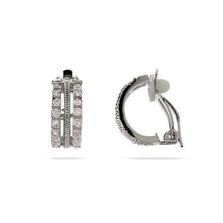 Triple Row CZ Clip-On Earrings | Eve's Addiction®