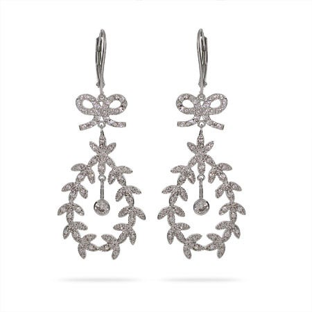 Stunning CZ Leaf Earrings | Eve's Addiction®