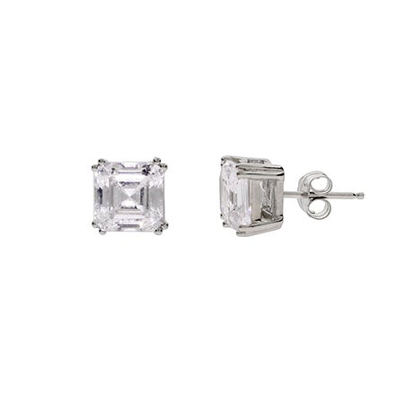 Designer Style Asscher Cut CZ Studs | Eve's Addiction®