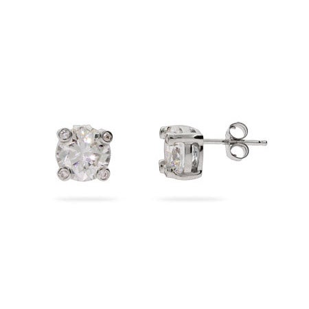 Designer Style Classic Brilliant Cut CZ Studs | Eve's Addiction®