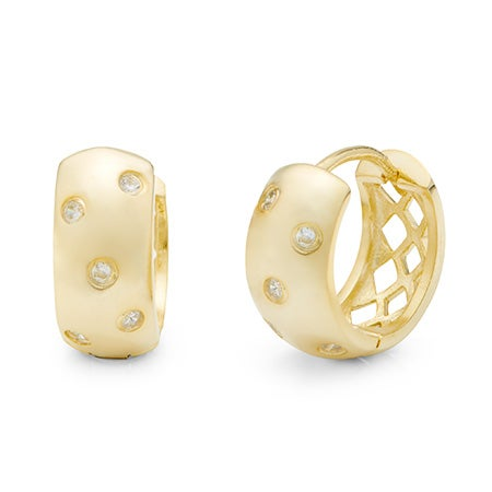 Designer Style Gold Huggie Earrings | Eve's Addiction®
