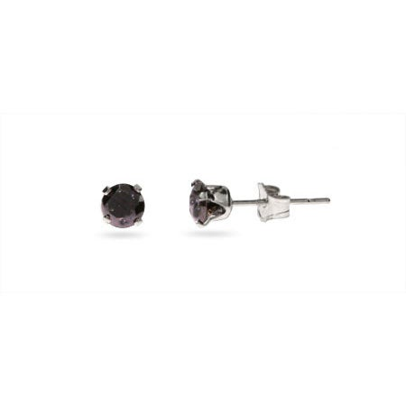 Black Onyx Sterling Silver Mens Studs | Eve's Addiction®