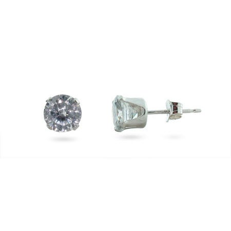2 Carat CZ Mens Stud Earrings | Eve's Addiction®