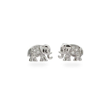 CZ Elephant Earrings | Eve's Addiction®