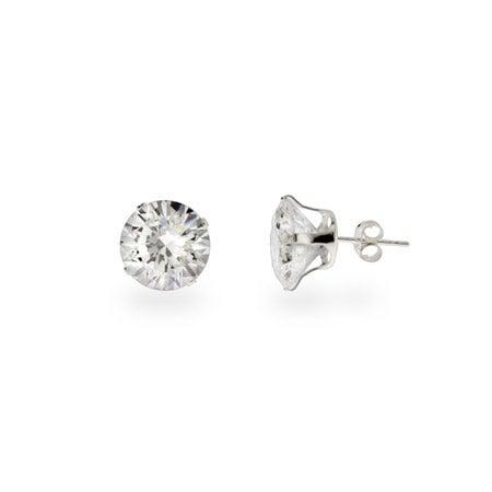 Stunning 4 carat CZ Stud Earrings | Eve's Addiction®