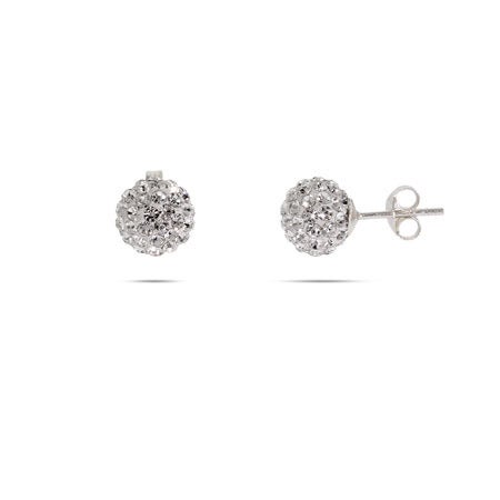 Swarovski Crystal Sterling Silver Bead Earrings | Eve's Addiction