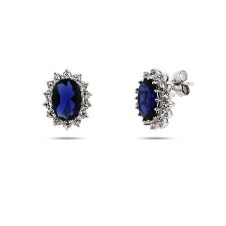 Royalty Inspired Sapphire CZ Royal Earrings | Eve's Addiction®