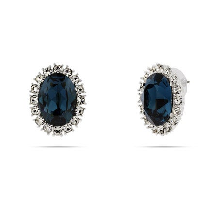 Royalty Inspired Sapphire Swarovski Crystal Earrings | Eve's Addiction®