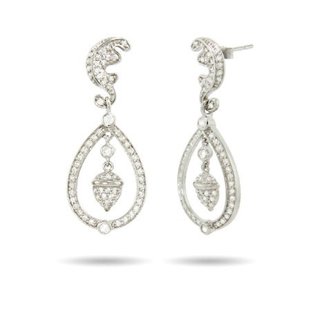 Royalty Inspired Sterling Silver Royal Wedding Earrings | Eve's Addiction®