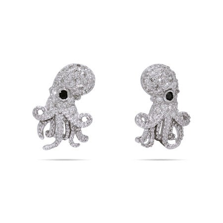 Cubic Zirconia Octopus Earrings | Eve's Addiction®