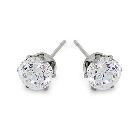 3/4 Carat Brilliant Cut CZ Studs | Eve's Addiction®