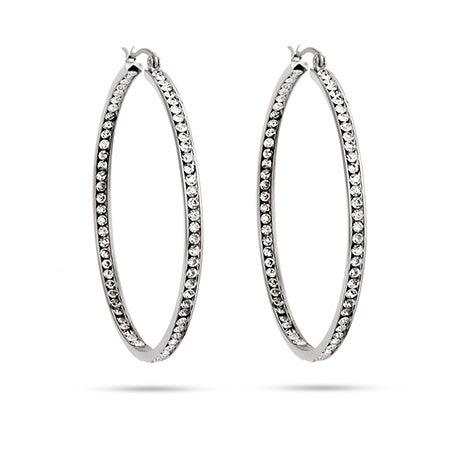 "2"" Inside Out CZ Hoop Earrings | Eve's Addiction®"