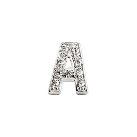 Block Letter A Initial Stud Earring - One Piece | Eve's Addiction®