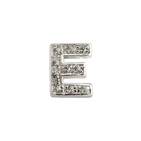 Letter E CZ Stud Earring - One Piece | Eve's Addiction®