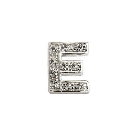 Letter E CZ Stud Earring - One Piece   Eve's Addiction®