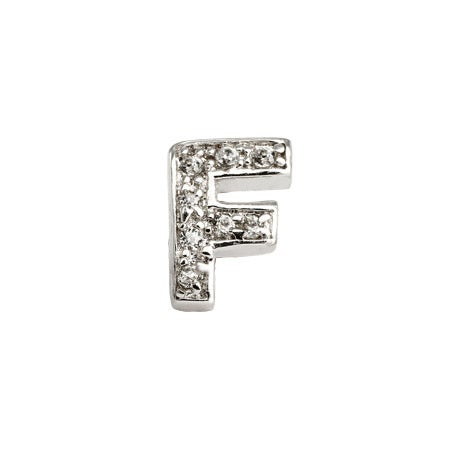 Letter F Initial Earring - Single Piece | Eve's Addiction®