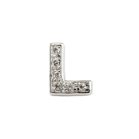 Custom Letter L Initial Earring - Ships Fast | Eve's Addiction®