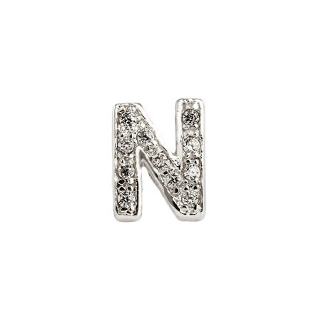 Letter N Initial CZ Stud | Eve's Addiction®