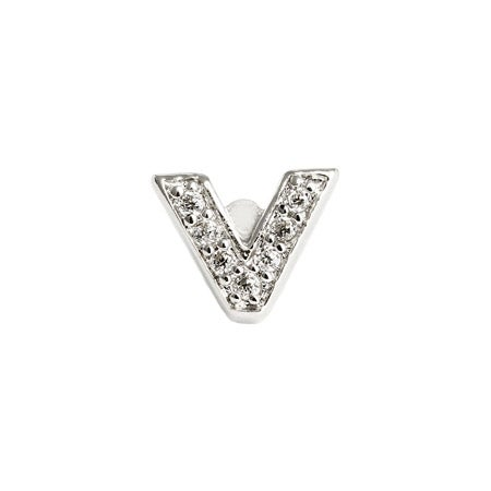 Letter V Earring - Single Initial Design | Eve's Addiction®