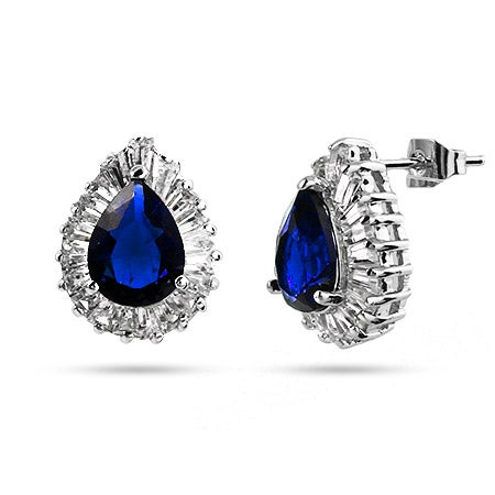 Pearcut Sapphire CZ Cocktail Earrings | Eve's Addiction®