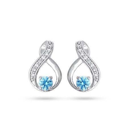 Sterling Silver Infinity Birthstone Earrings | Eve's Addiction®