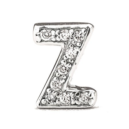 Z Block Letter Design Initial Silver CZ Stud | Eve's Addiction®