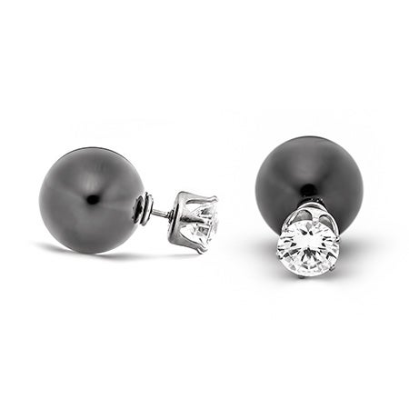 CZ and Black Onyx 360 Studs | Eve's Addiction®