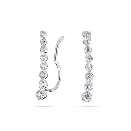 Graduated Brilliant Cut CZ Ear Crawlers | Eve's Addiction®