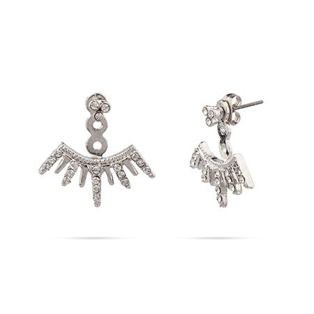 Shashi Arushi Earring Jackets In Sterling Silver | Eve's Addiction®