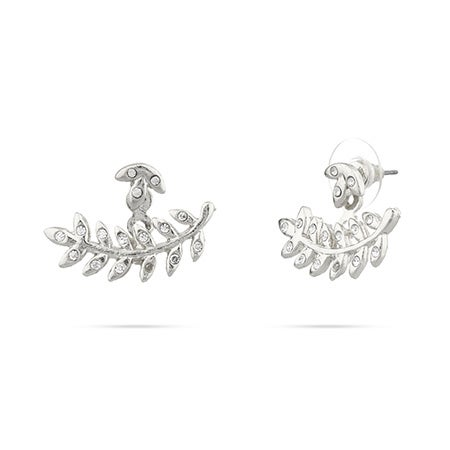 Shashi Amelia CZ Earring Jackets in Silver | Eve's Addiction®