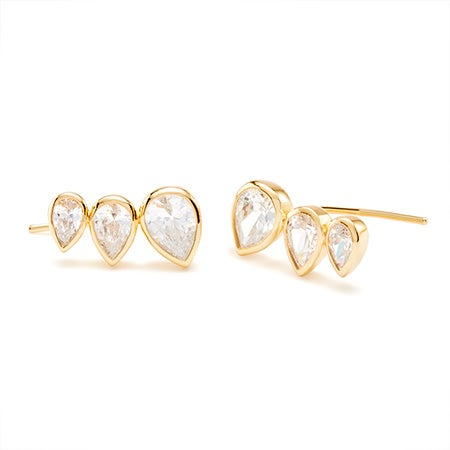 gorjana Kelsi Ear Climbers in Gold