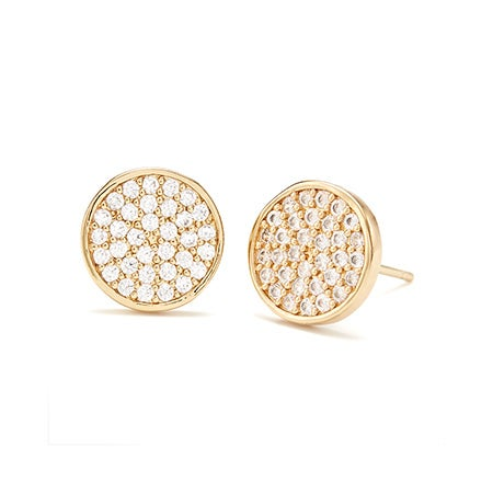 Gold gorjana Pristine Circle Studs | Eve's Addiction Jewelry