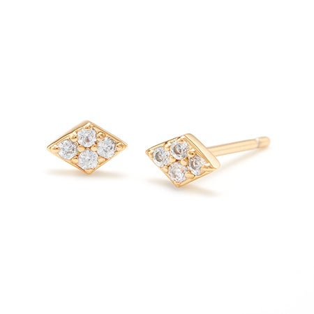 gorjana Petra Shimmer Diamond Studs in Gold