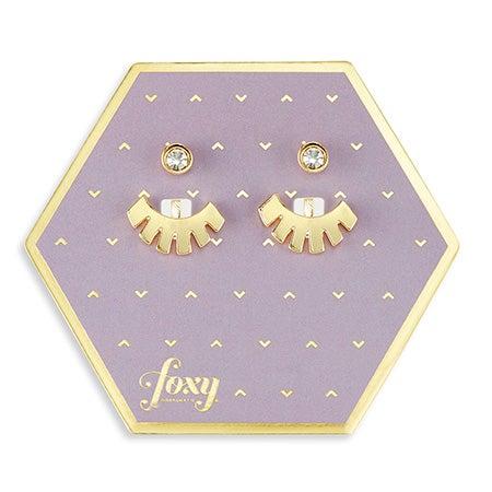 Foxy Jasper Earring Jacket in Gold