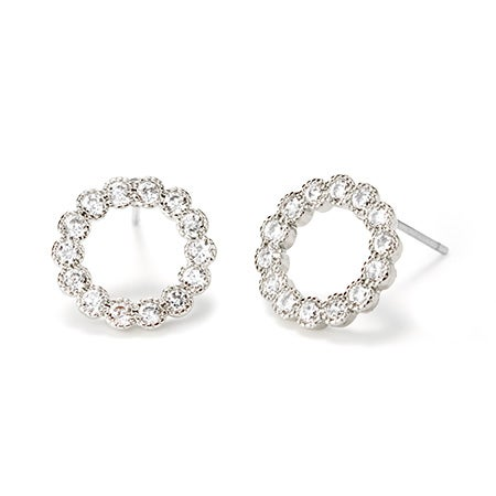Fornash Holly Earrings in Silver