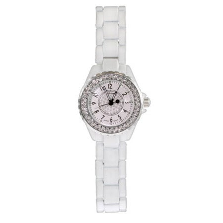 Designer Style CZ White Fashion Watch | Eve's Addiction®
