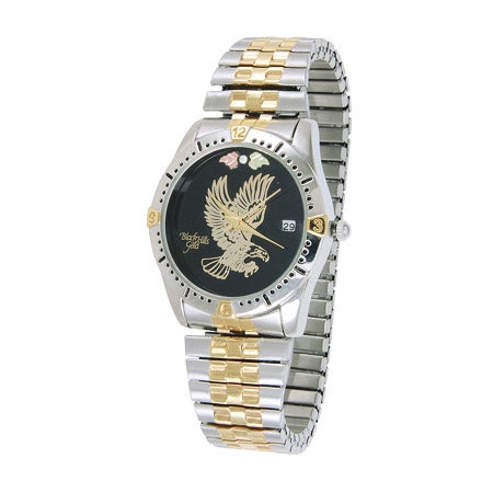 Genuine Black Hills Gold Men's Eagle Watch With Diamond Accent | Eve's Addiction®