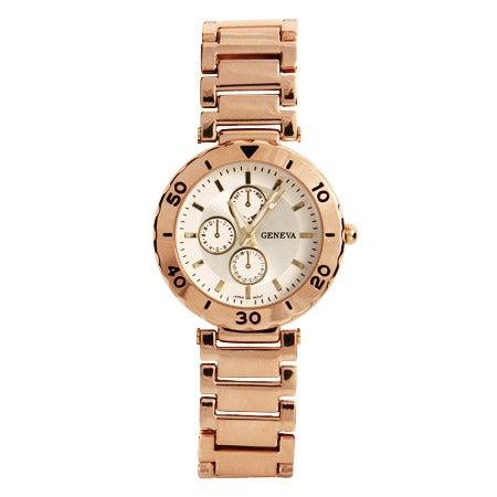 Designer Inspired Modern Rose Gold Vintage Flair Watch | Eve's Addiction®