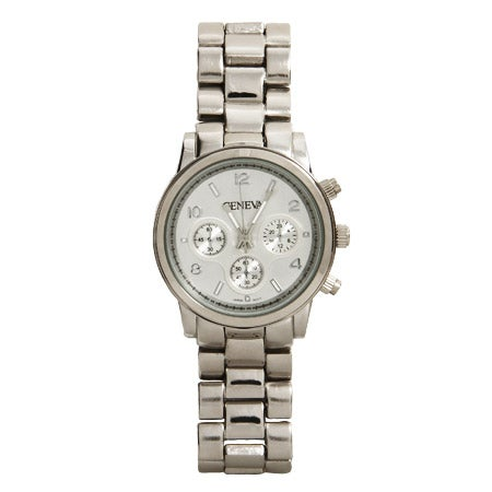 Designer Inspired Silvertone Boyfriend Watch | Eve's Addiction®