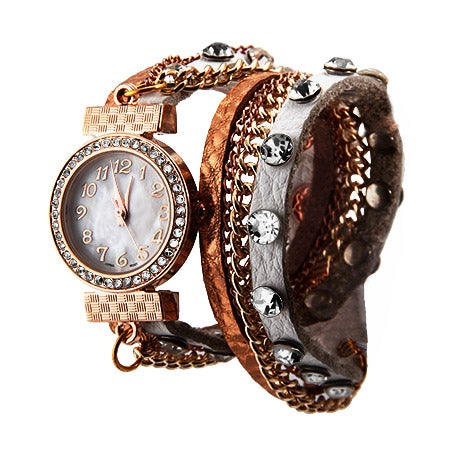 White and Rose Gold Wrap Around Watch | Eve's Addiction®